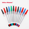 durable Manufacturer transparent pen multicolor selling office or school plastic stick ball point pen with cap