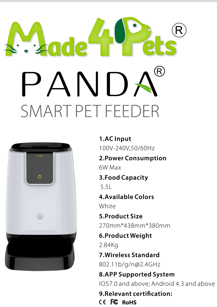 New Smart Pet Products Food Feeder Wifi Remote Control Automatic Dog Food Bowls Feeder