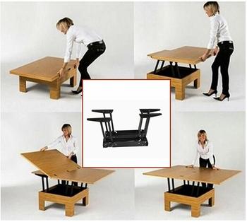 Foshan Factory Supply Living Room Furniture Folding Convertible Table Mechanism Lf 8012