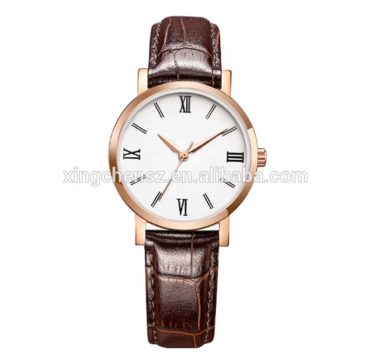 custom logo wrist watches for females chinese numbers water proof watches