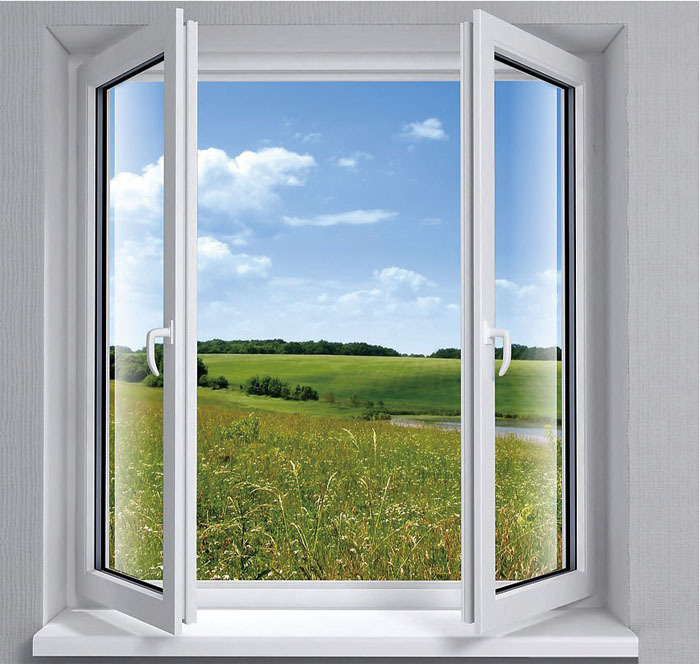 Aluminum used windows and doors casement window with for Best blinds for casement windows