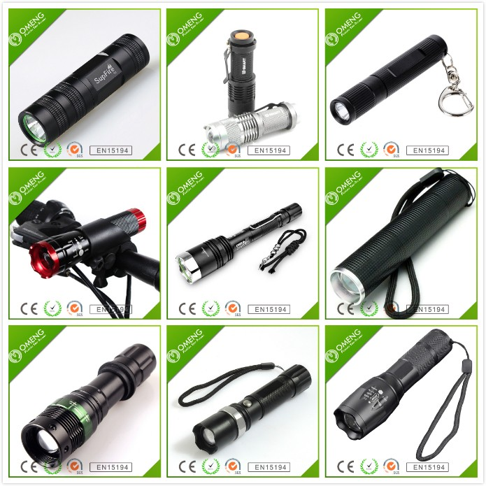 2017 Aluminum Rechargeable Powerful Zoom T6 Tactical Flashlight ...