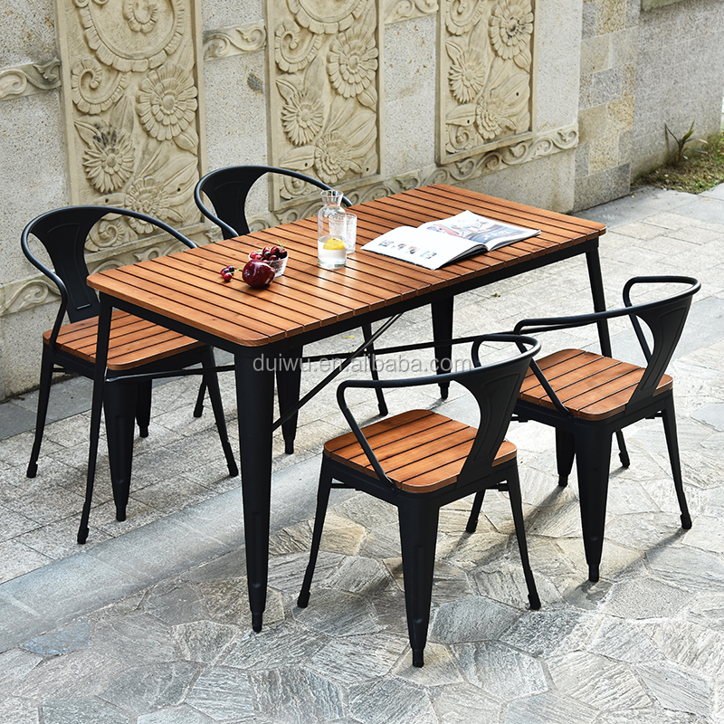Foshan New Design Outdoor Dining Table And Chair For Coffee Shop