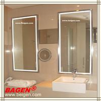 Framed Mirror With Lighting Illumination For Modern Bathroom