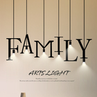 Lamps Puzzle Lamp Bar Loft Alphabet Indoor Lighting Chandeliers Pendant Lights Lamps 26 Letters Combine Puzzle Lamp Vintage Bar Hanging Lights