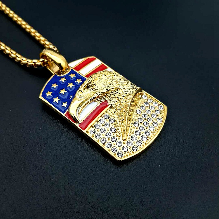usa tone collections is pendant gold rosemarie a necklace patriotic flop flag pin flip american with