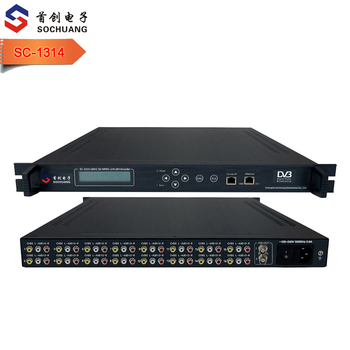 SC-1314 16 canali SD IP Audio Video TV Via Cavo Encoder Encoder Digitale