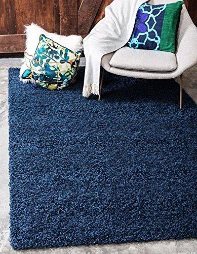 Buy Turquoise Navy Blue Light Blue Shag Rug Art Deco