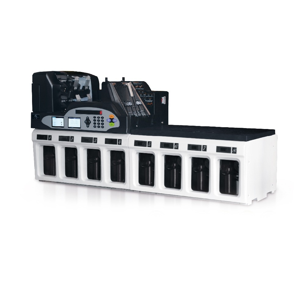 Multi-currency 2+1 ECB test passed Cash Processing Equipment GA-QFJ3200 Bill Banknote Fitness Sorting Machine