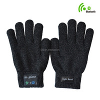 Factory direct Bluetooth Talking & Touch Screen Gloves for iPhone & Android Smartphone Talk to the Hand Headset black OEM