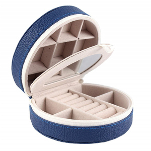 Jewelry Box for Women Portable Jewelry Earring Holder and Ring Storage Case for Travel with Compartment Organizer