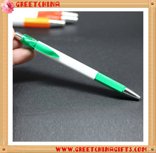 Custom Printed Promotional Ads Plastic Square Pen With Colorful Clips and Grip