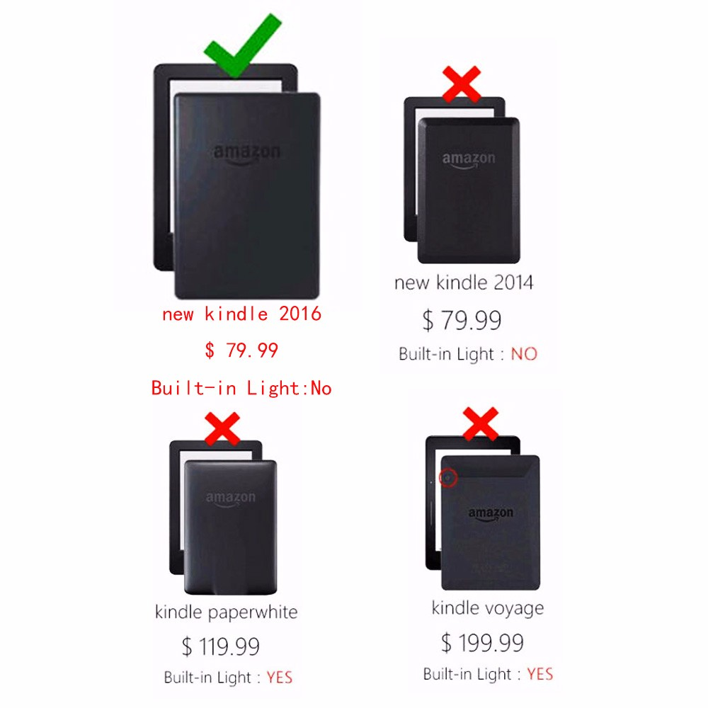 Smart Cover Case For Amazon All-new Kindle 8th With Hand Holder (2016  Release) - Buy Case For Kindle,Cover Case For Kindle,Smart Case For Kindle