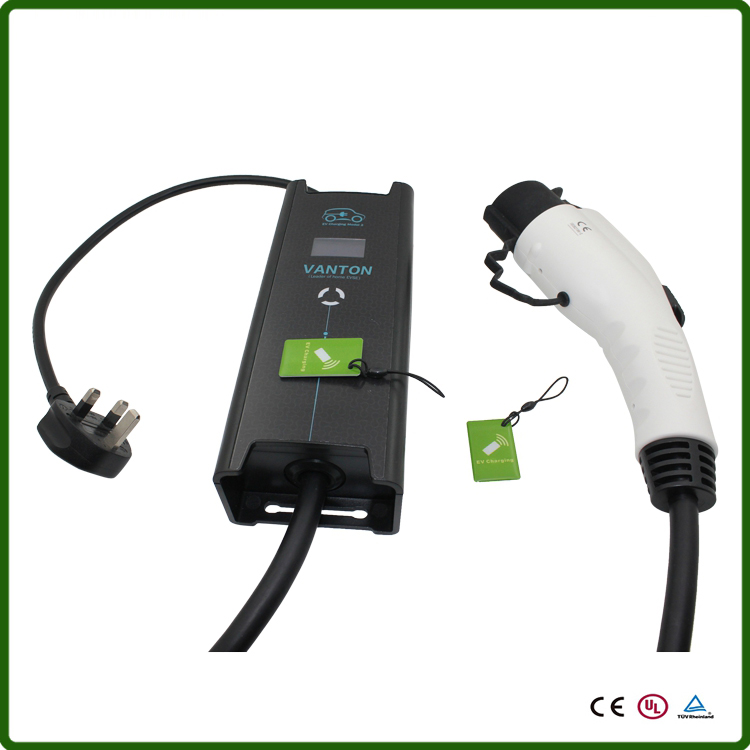 Uk 3 Pin Bs Plug Evse J1772 Ev Level 2 Charger Portable Mode Charging