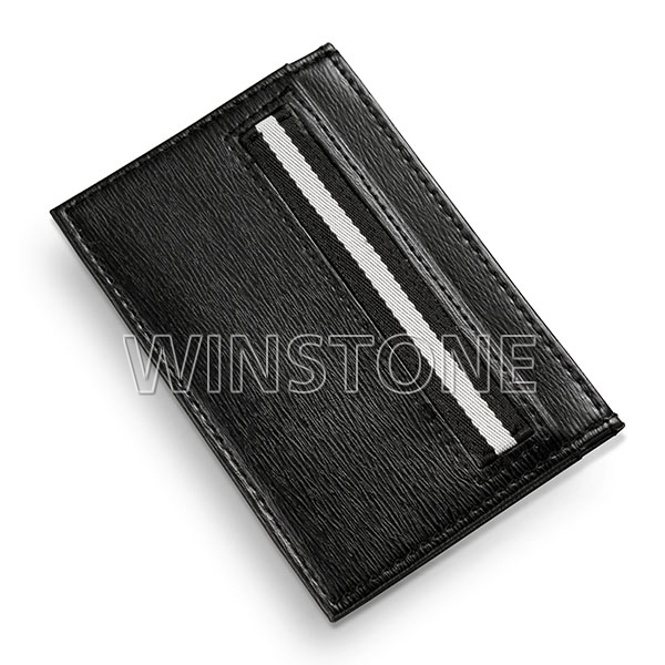 RFID blocking concise carbon fiber leather credit card holder