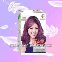 Plant Amino Acid Natural Hair Dye Product(p-11 Floweriness Purple ...