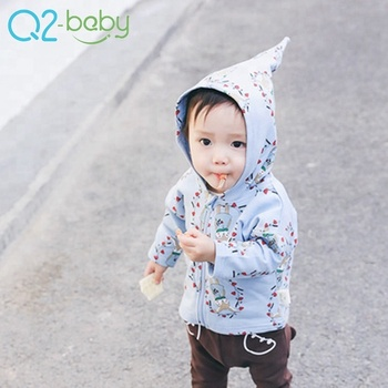 Wholesale 0-3 years new born boys and girls toddlers outwear clothes cartoon cute hooded baby coat