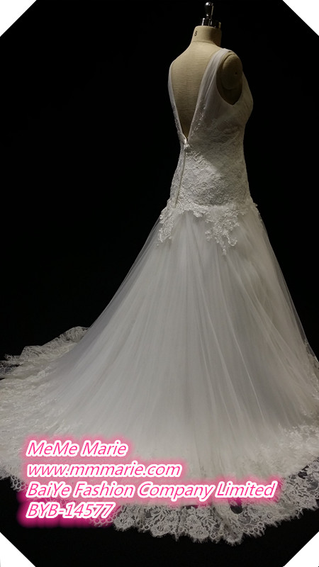 Lace Fabric For Wedding Dress For Pregnant Brides V Neckline Bridal ...