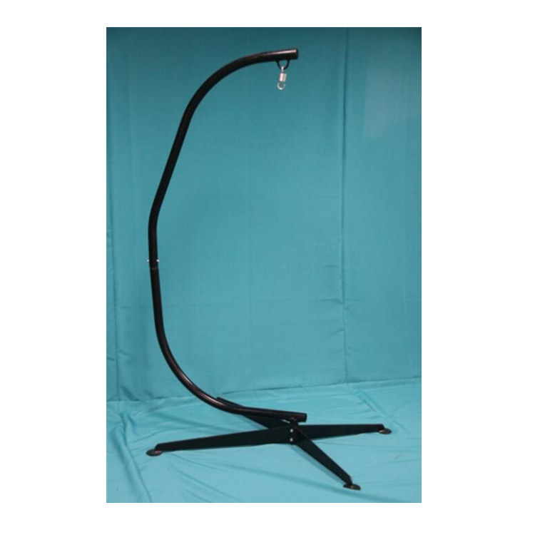 Outdoor Patio Black Solid Steel Hammock C standing Frame Hammock Stand Heavy-duty Works For Most Air Chairs