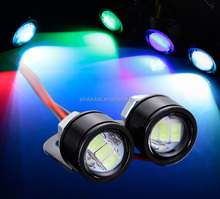 Factory Wholesale New Motorcycle LED Mirror Light 18MM 23MM Eagle Eye