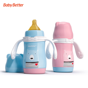 Wholesale New Fashion 3 in 1 Food Grade Thermos Baby Milk Stainless Steel Feeding Bottle