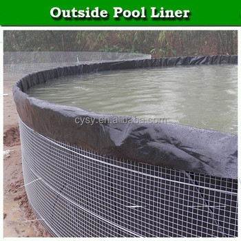 Waterproofing hdpe fish pond liner impermeable membrane for Blue koi pond liner