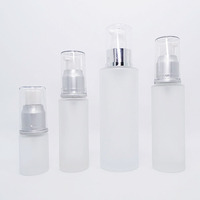 15ml 20ml 30ml 50ml 80ml 100ml 120ml 150ml frosted glass bottle with pump