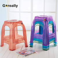 Custom color small low height short stackable cheap plastic stools