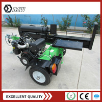 High performance 12 seconds cycle time log wood splitter with Koop diesel engine