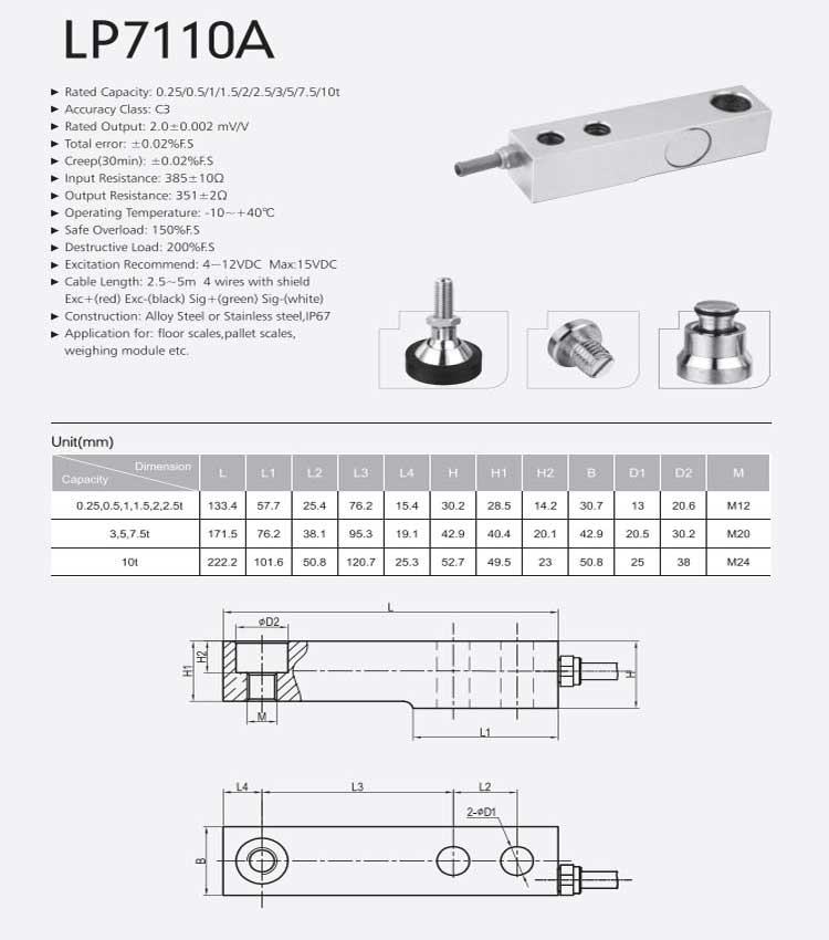 Chinese Cheap Prices of Load Cell,10 Ton Load Cell
