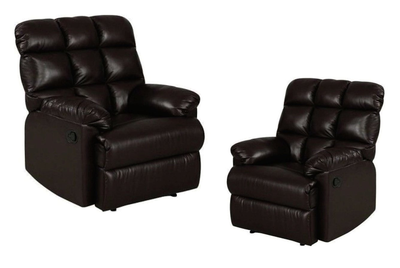 Incredible Buy Leather Recliner Chairs Set Of 2 Large Comfort Bralicious Painted Fabric Chair Ideas Braliciousco
