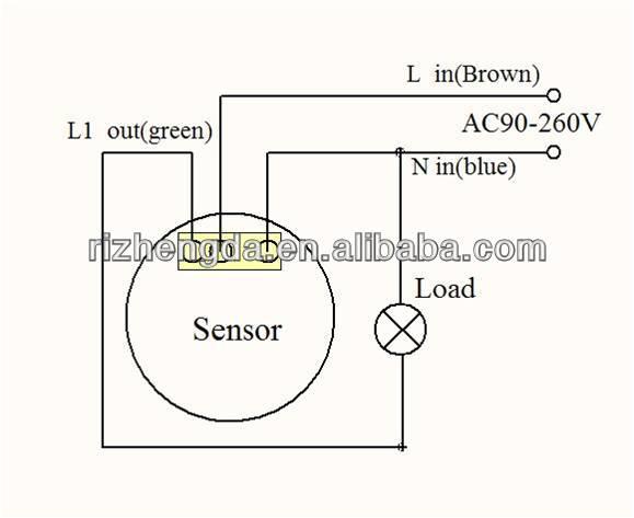 R666 110v  220v Led Pir Human Sensor Ceiling Light Switch 3 Wire Low Price
