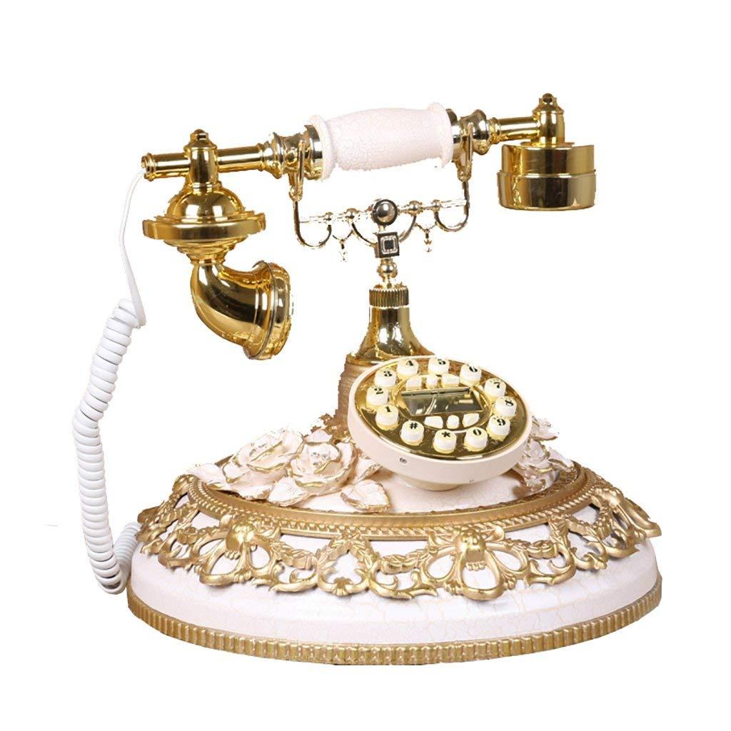 retro Telephone Retro Telephone European Living Room Antique Telephone Home Bedroom Creative Retro Telephone Fashion Vintage Landline Office ( Color : Golden yellow )