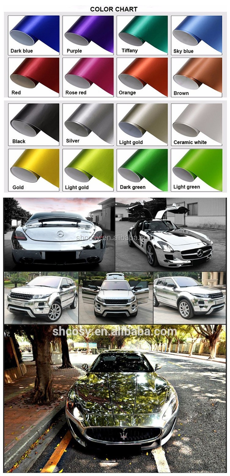 metallic glossy mirror car wrap folie chrome vinyl wrap for color changing buy chrome wrap. Black Bedroom Furniture Sets. Home Design Ideas