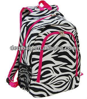 Brand New Girls Zebra Print School Bags Travel Backpack Bag Made ...