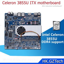 Latest 4K display Intel Skylake 6th Celeron 3855U mini ITX motherboard with DDR4 LVDS and LPT Header