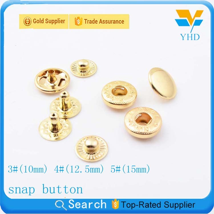 2017 new product four parts metal jeans snap button for jackets