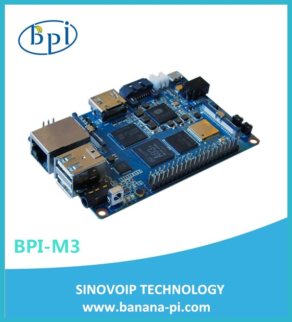The Smallest 8-Core Single Board Computer Banana Pi BPI-M3 With Wifi&BT Module And 2GB LPDR3