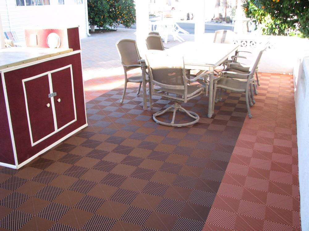 Plastica ad incastro modulare garage pavimenti in gomma officina