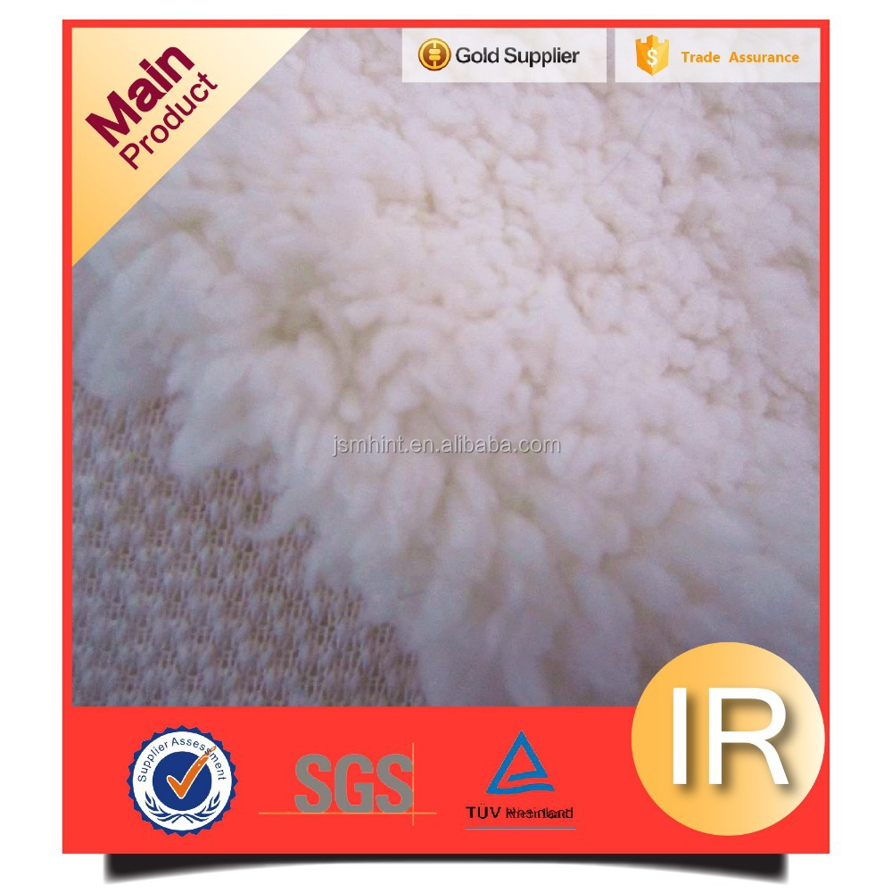 59-60'' Wide China Knit Polyester Sherpa Lining White Fabric By The Yard