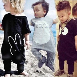 Free Sample Baby Fashion Clothes Stock Short Sleeve Long Leg Romper