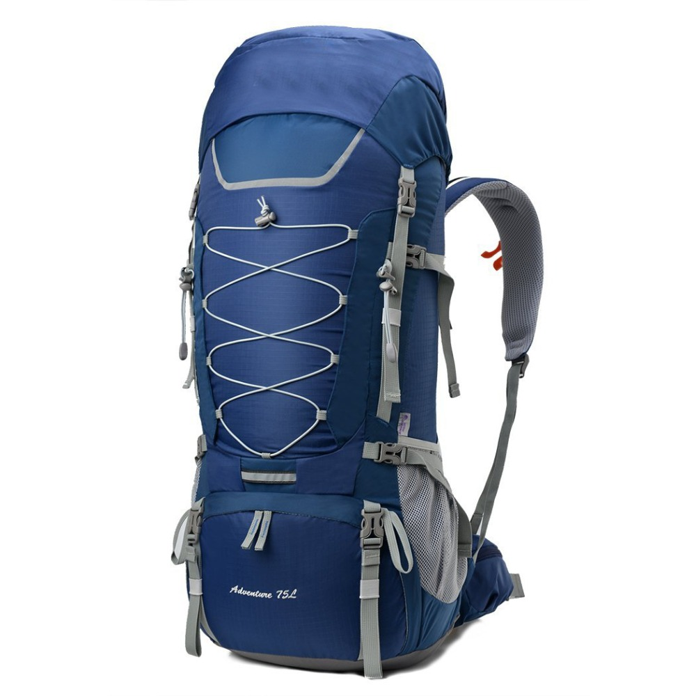75L Outdoor Sport Water-resistant Internal Frame Backpack Hiking Backpack with Rain Cover for Climbing camping hiking
