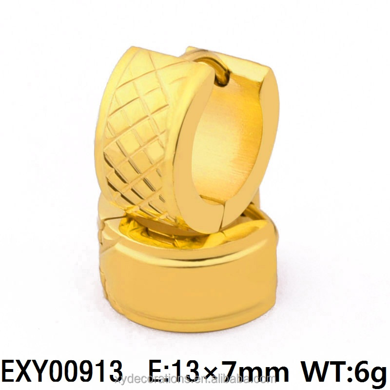 EXY00913 New Design Jewelry Men and Women18K Gold Plated Stainless Steel Hoop Earring China Manufacturer