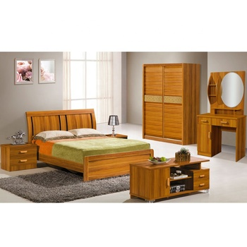 Luxury Bedroom Set Furniture Solid Wooden Bed Designs