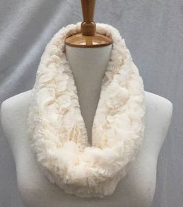 Fashion winter animal pattern faux fur infinity scarf