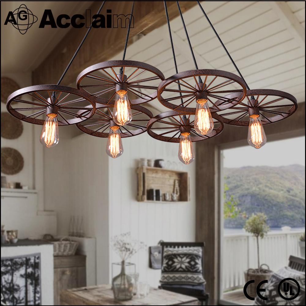 ... hanglamp/kleding shop/eetkamer middeleeuwse kroonluchter hanger wiel
