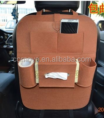 Fashionable grey felt Auto Back Seat Tablet Organizer for truck