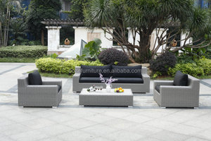 round rattan outdoor sofa furniture, grey rattan sectional big sofa set