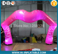 Wonderful Pink Led Light Inflatable Lip Arch Valentine wedding Party Decorations