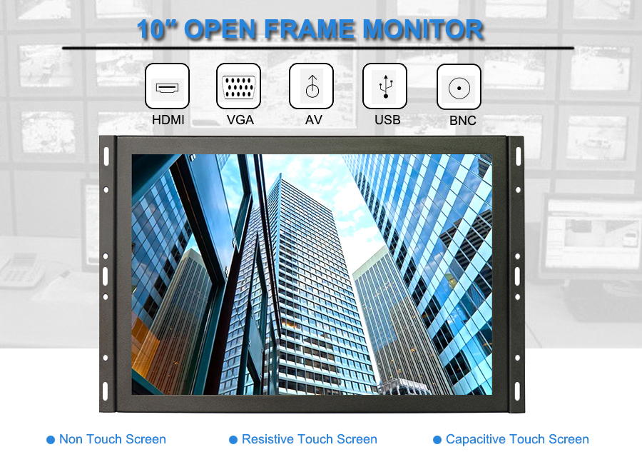 "7"" 8"" 10"" 10.4"" 12"" 15"" 17"" 19"" 22"" 10 inch 4:3 open frame monitor LCD display monitor Support OEM"